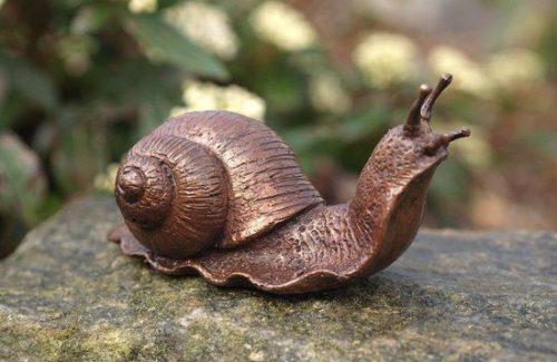 Beeld slak - Tuinbeeld - brons - Bronzartes - 6 cm hoog