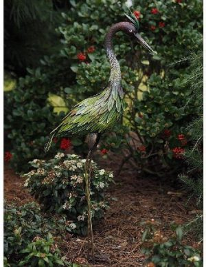 Tuinbeeld groot - Metalen beeld Pauw - 109 cm hoog