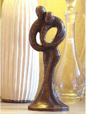 Bronzen beeld - beeld Modern Romantiek - Bronzartes - Hoogte 30 cm