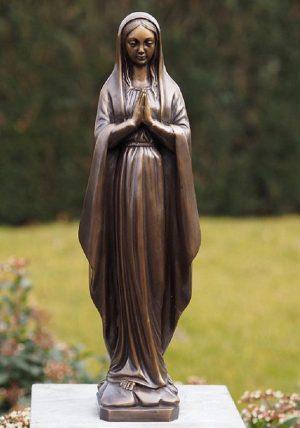 Religieus Bronzen beeld - Biddende Maria - Maria beeld Bronzartes - 48 cm hoog