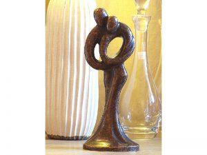 Tuinbeeld - bronzen beeld - Abstract liefdespaar - Bronzartes - 30 cm hoog