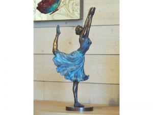 Tuinbeeld - bronzen beeld - Danseres - Ballerina - Bronzartes - 42 cm hoog