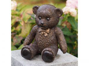 Tuinbeeld - bronzen beeld - Teddy beer - Bronzartes - 22 cm hoog