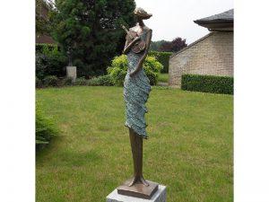 Tuinbeeld - bronzen beeld - Violist - Bronzartes - 98 cm hoog