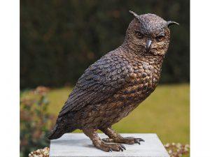 Tuinbeeld - bronzen beeld - Uil - Bronzartes - 30 cm hoog