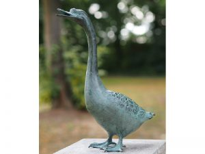 Tuinbeeld - bronzen beeld - Gans - Bronzartes - 38 cm hoog