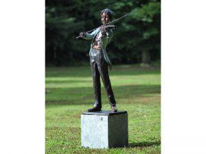 Tuinbeeld - bronzen beeld - Violist - 133 cm hoog