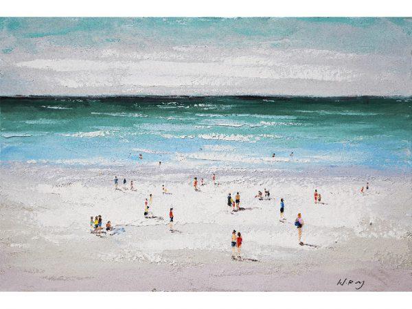 Olie op canvas - Strand - 80 cm hoog