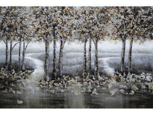Olie op canvas - Bomen - 80 cm hoog