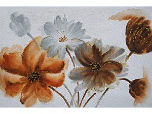 Olie op canvas - Bloemen - 80 cm hoog
