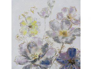 Olie op canvas - Bloemen - 100 cm hoog