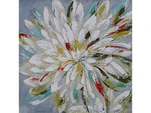 Olie op canvas - Bloem - 100 cm hoog