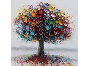 Olie op canvas - Boom - 100 cm hoog
