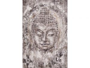 Olie op canvas - Boeddha - 180 cm hoog