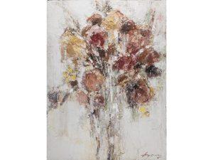 Olie op canvas - Bos bloemen - 120 cm hoog