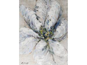 Olie op canvas - Bloem - 120 cm hoog