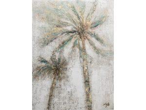 Olie op canvas - Palmbomen - 120 cm hoog