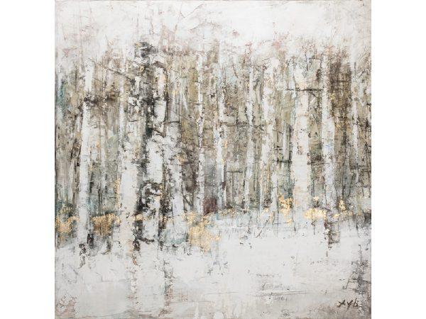 Olieverfschilderij op canvas - Abstract - 120 x 120 cm - woonkamer
