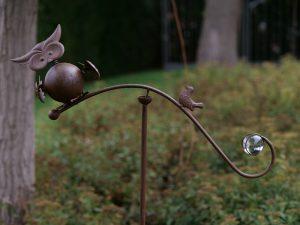 Tuinsteker - Balans uil / vogel - 130 cm hoog