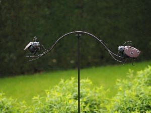 Tuinsteker - Balans lieveheersbeestjes - 130 cm hoog