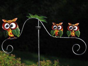 Tuinsteker - Balans 3 uilen - 135 cm hoog