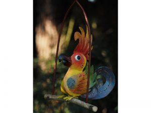 Tuinbeeld - Gekleurde vogel - 27 cm hoog