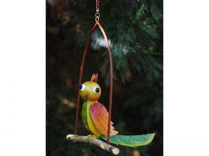 Tuinbeeld - Gekleurde vogel - 20 cm hoog