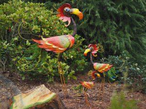 Tuinbeeld - Flamingo donker middel - 85 cm hoog