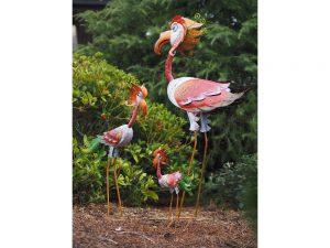 Tuinbeeld - Flamingo licht middel - 85 cm hoog