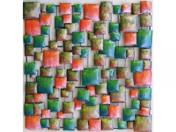 "Wanddecoratie - Muurdeco ""squares"" - 100 cm hoog"