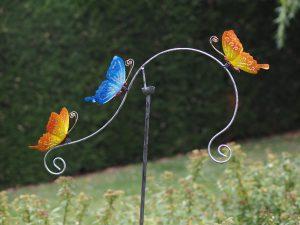 Tuinsteker - Balans 3 vlinders - 130 cm hoog