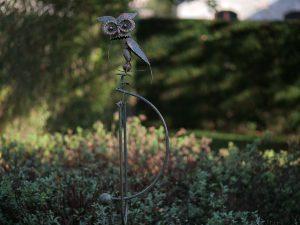 Tuinsteker - Balans uil - 135 cm hoog
