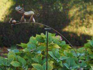 Tuinsteker - Balans kat en muis - 130 cm hoog