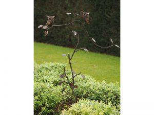 Tuinsteker - Balans uilen - 135 cm hoog