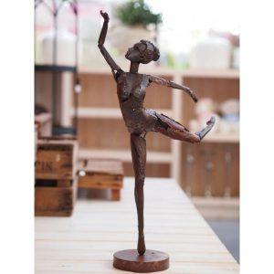 Beeld - Metalen sculptuur Danseres - 63 cm hoog  LAATSTE! OP=OP