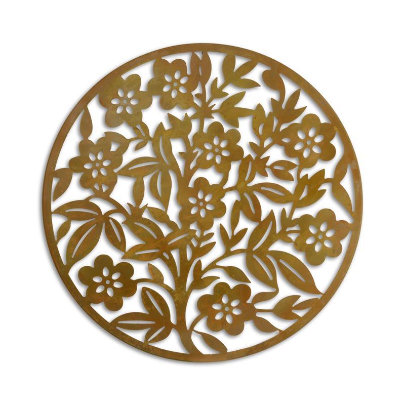 Wanddecoratie Ijzeren Bloemen Metalen Decoratie Tuin 99 7 Centimeter Diameter Trendybywave Nl